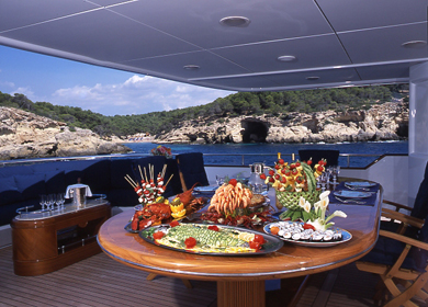 Bridge Aft Deck Dining