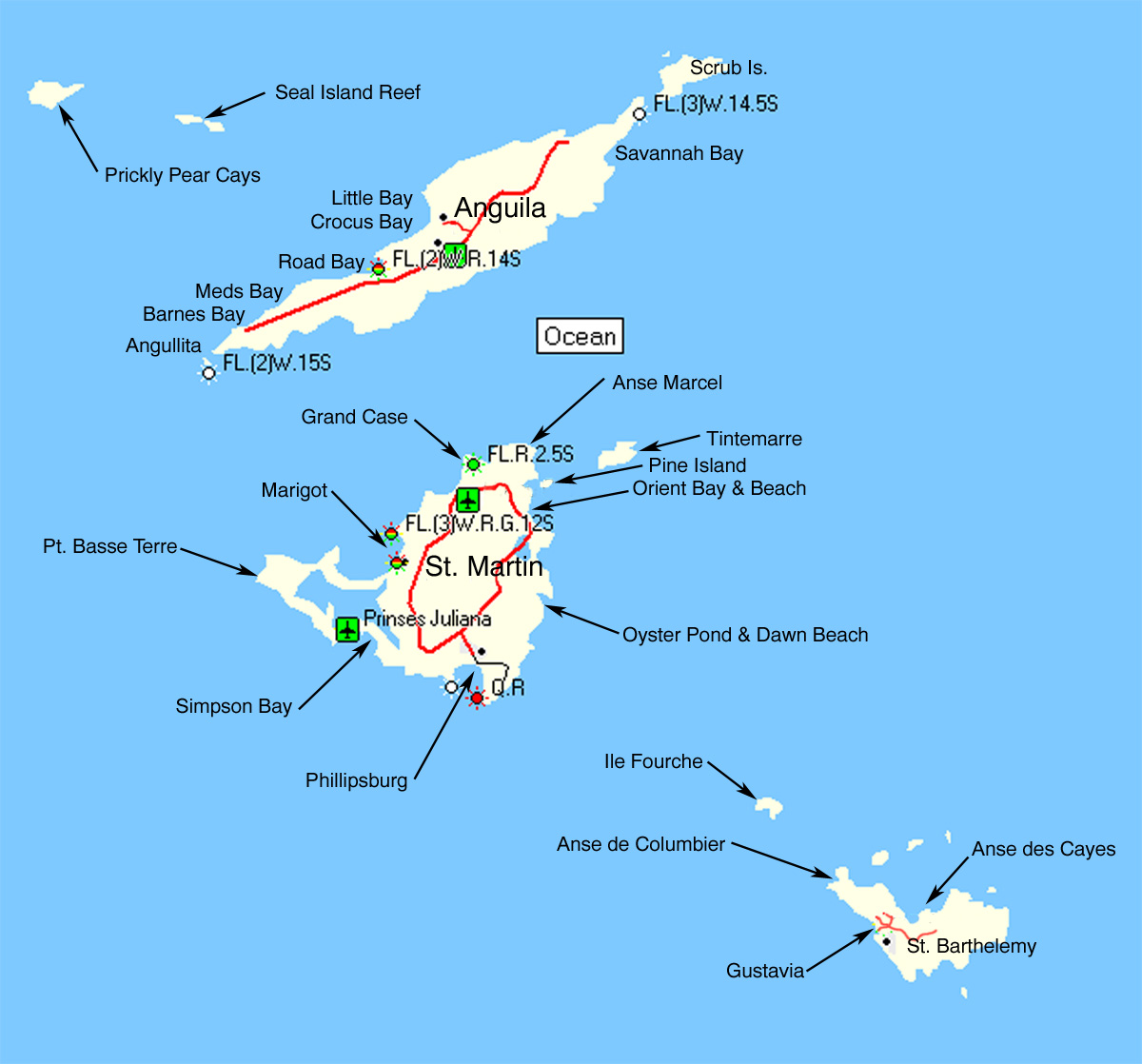 southeast us map free printable html with Description Of St  Maarten on LA besides Australia Mapa in addition Map Eastern Australia in addition Medina Districts as well Description of St  Maarten.